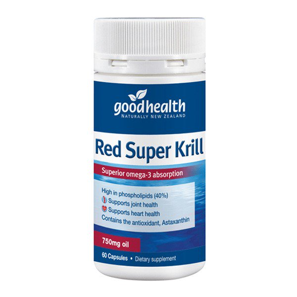 Good Health Red Super Krill 750mg 60 Capsules