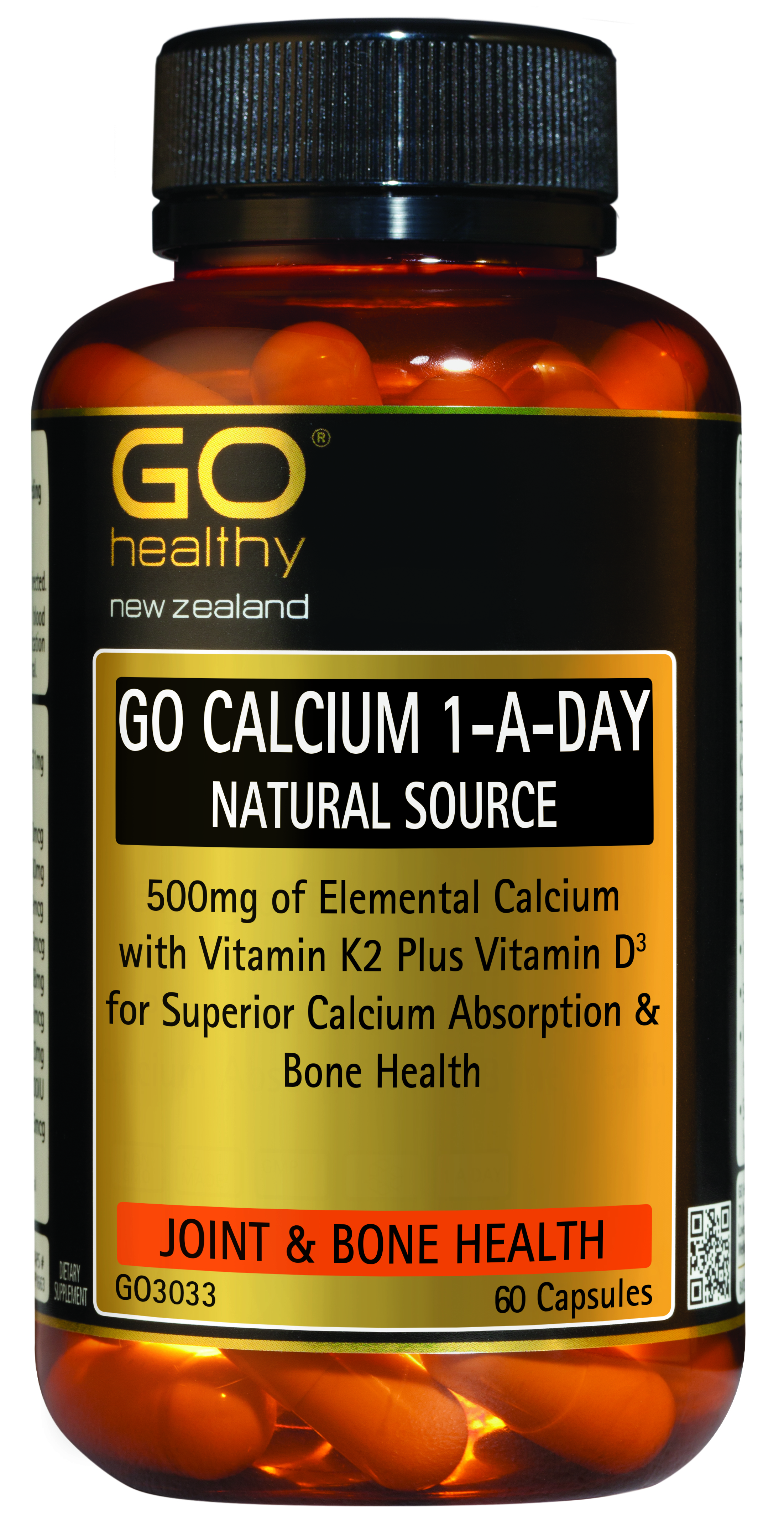 GO Healthy Calcium 1-A-Day 60 Capsules