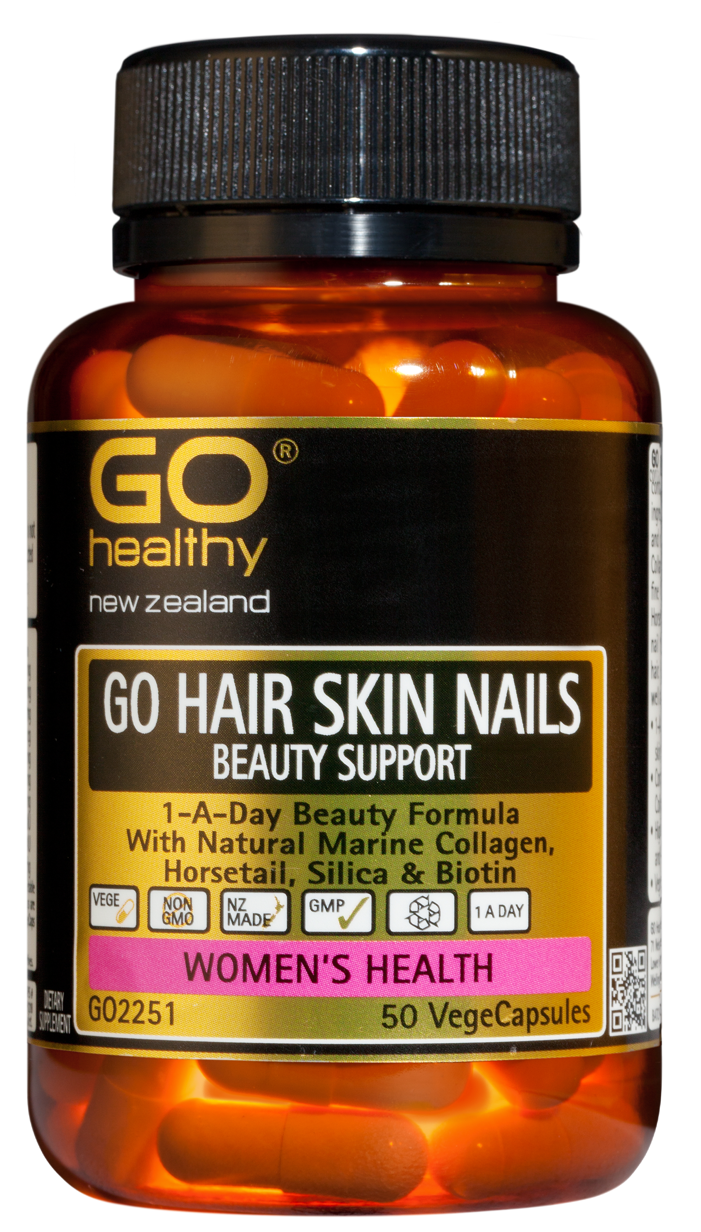 Go Healthy Hair Skin Nails Beauty Support 50 VegeCaps