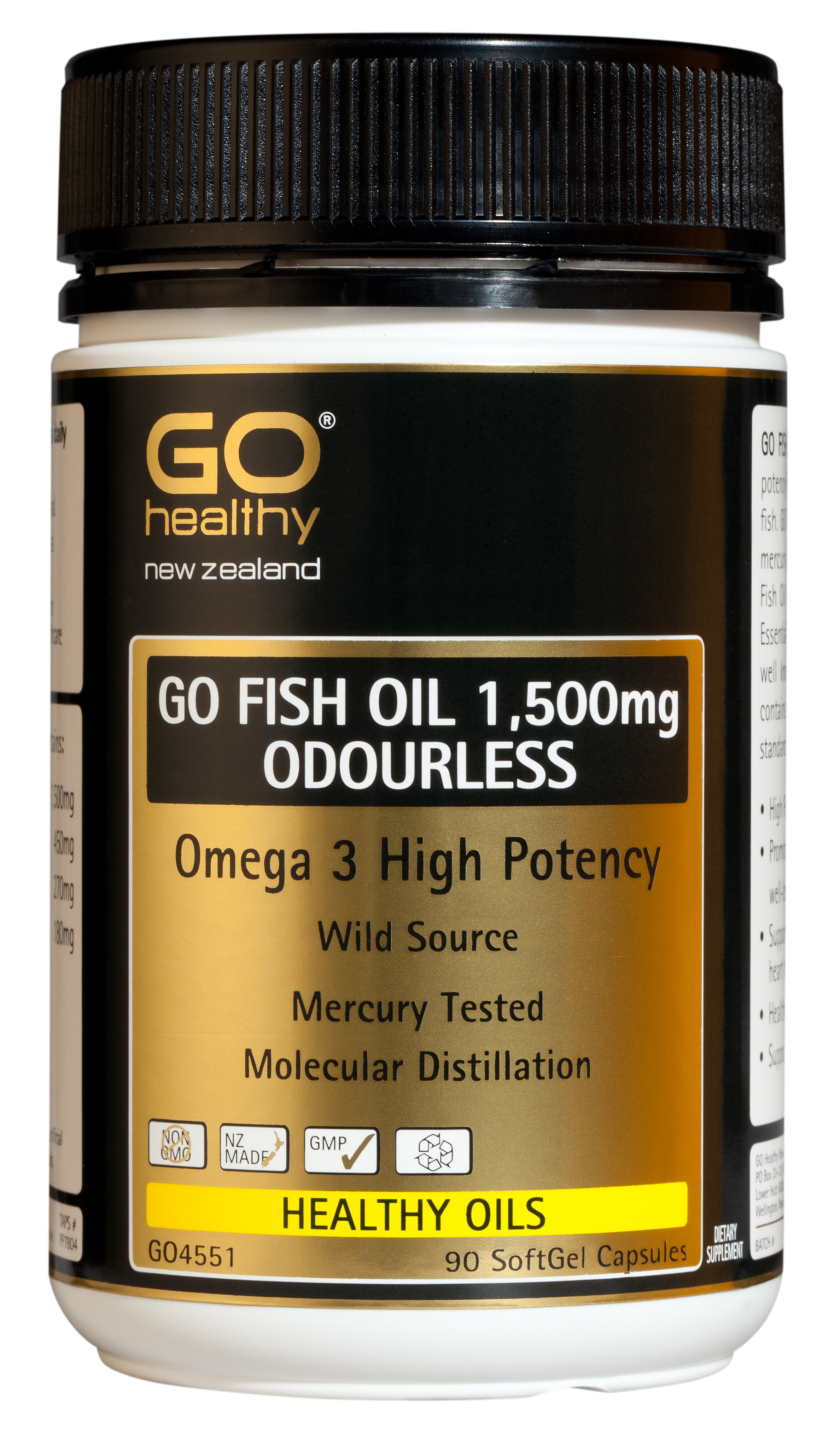 GO Healthy Fish Oil 1,500mg 210 Capsules