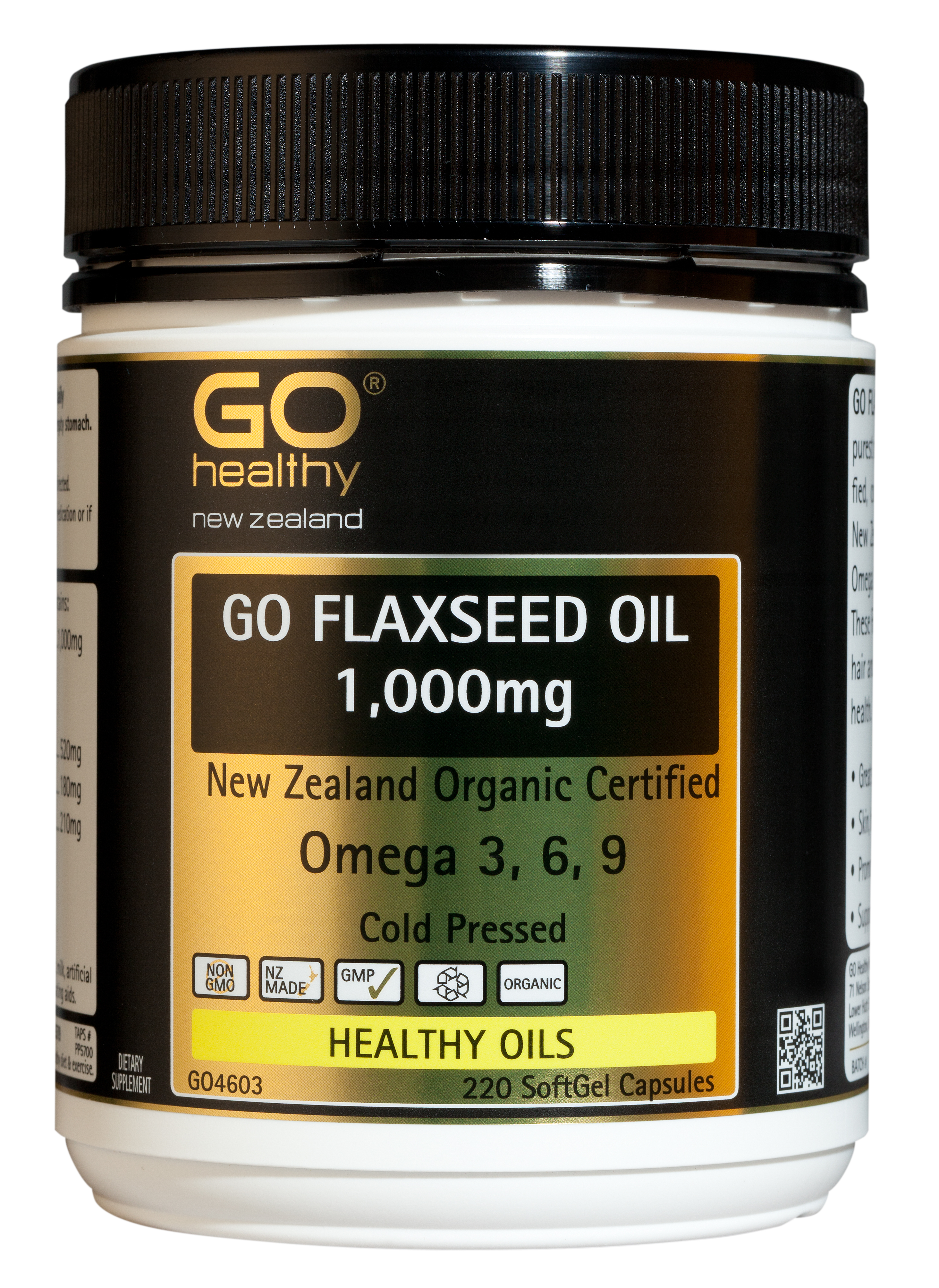 GO Healthy Flaxseed Oil 1,000mg 220 Capsules