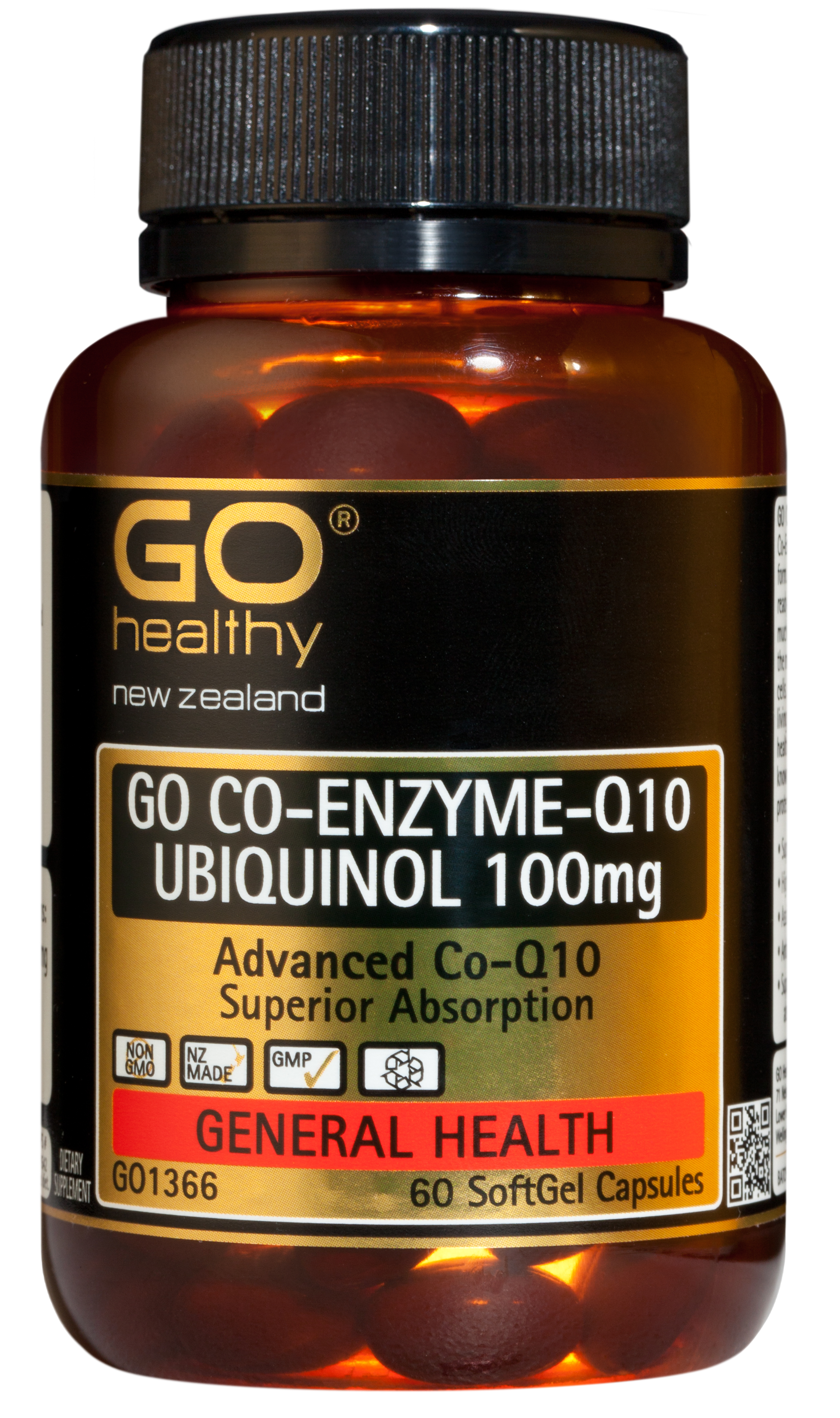 Go Healthy Co-Enzyme Q10 Ubiquinol 100mg 60 Capsules