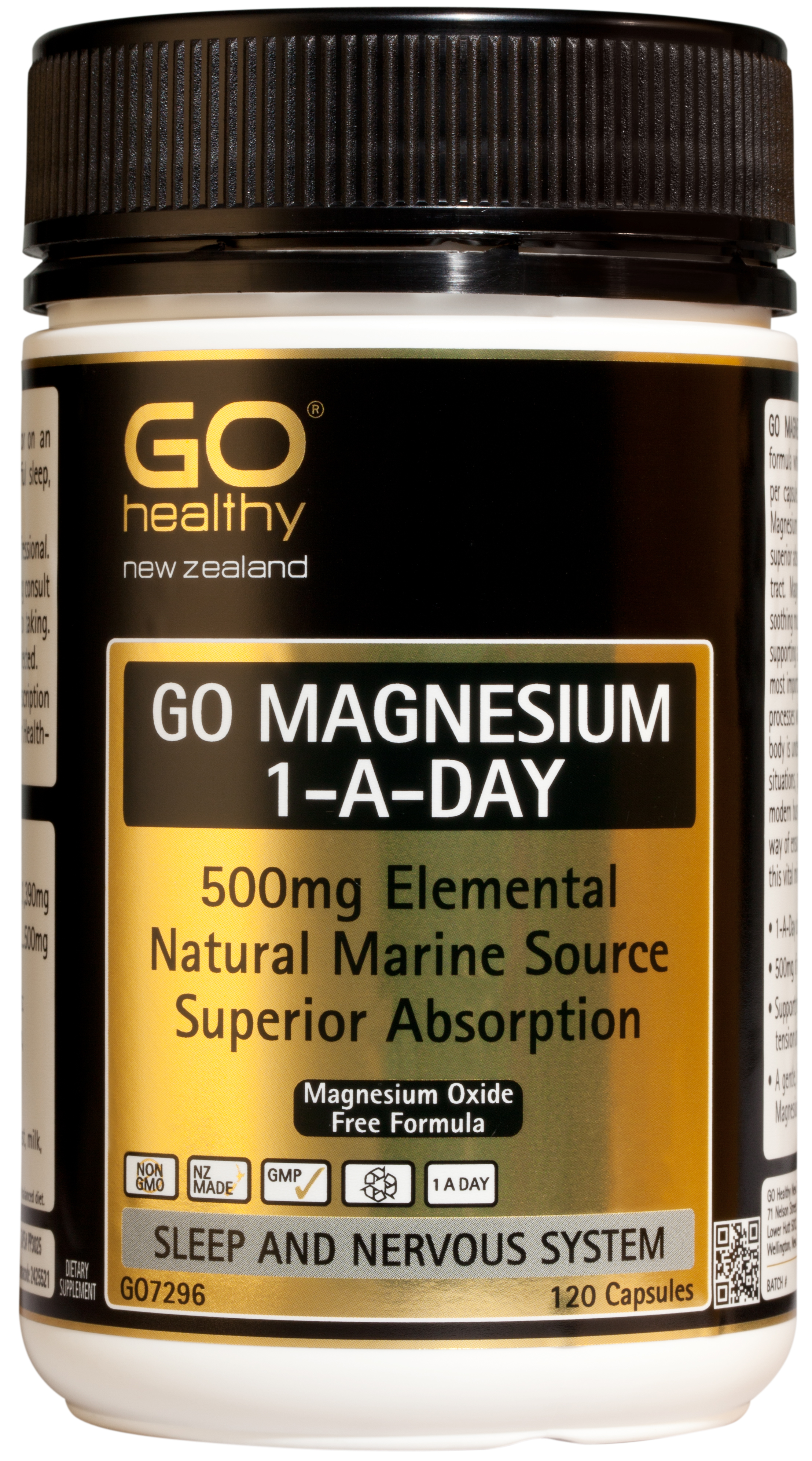 GO Healthy Magnesium 1-A-Day 120 Capsules