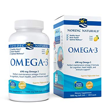 Nordic Naturals Omega 3 Lemon 120 Gel Caps   BUY 1 GET 1 FREE!!!