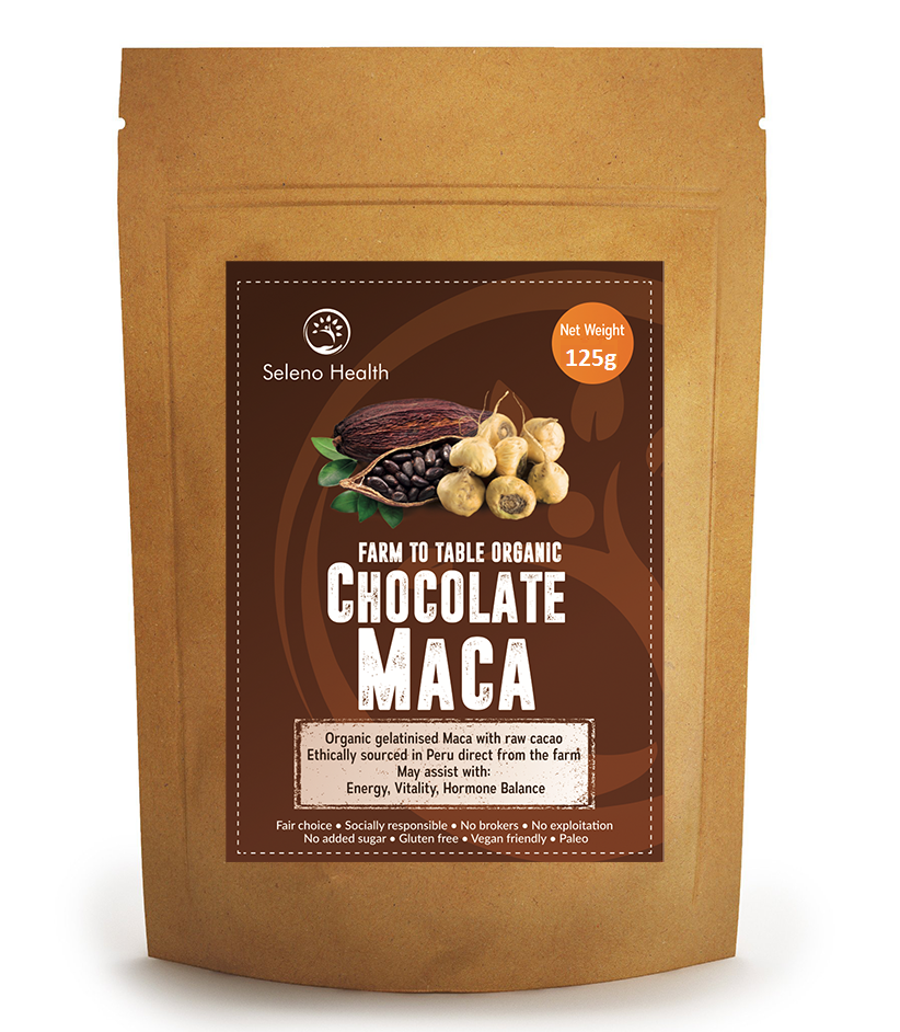 Seleno Health Maca Chocolate 125g