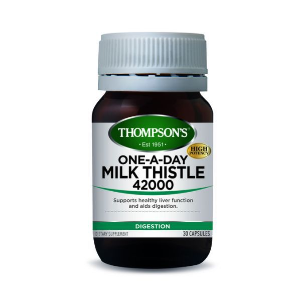 Thompsons Milk Thistle One A Day 42,000 30 Capsules