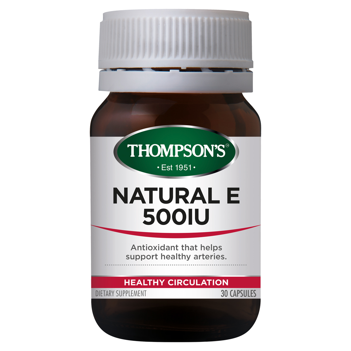 Thompsons Vitamin E 500iu 30 Capsules