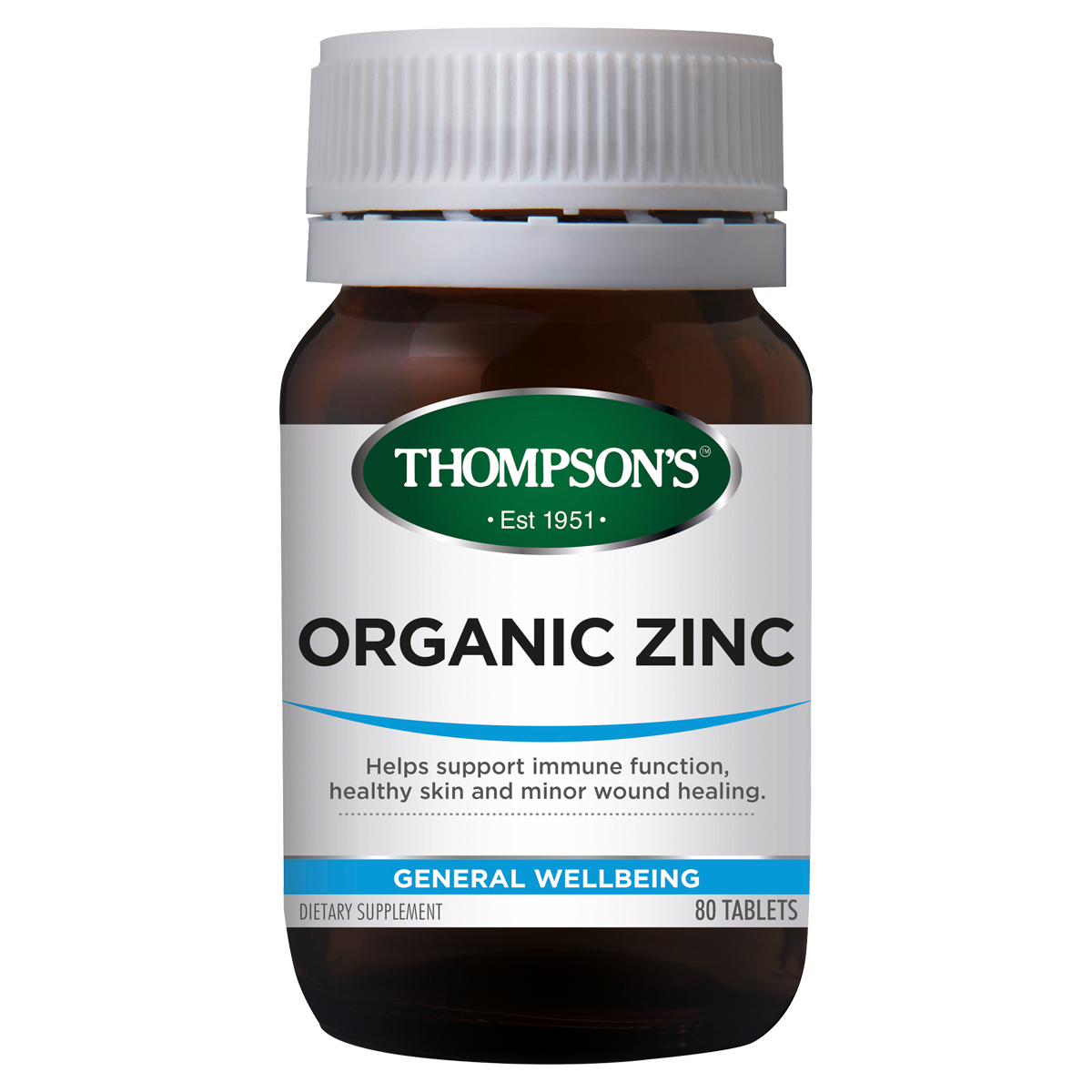 Thompsons Zinc Organic 80 Tablets
