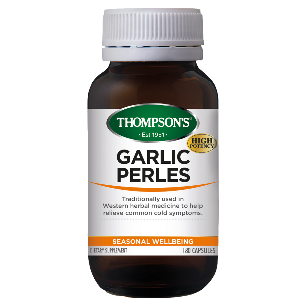 Thompsons Garlic Perles 180 Capsules