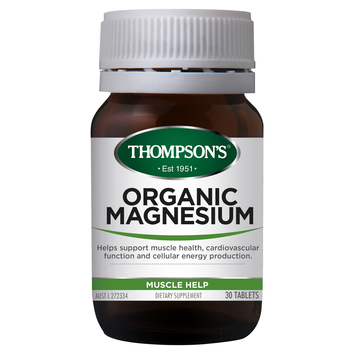 Thompsons Magnesium Organic 30 Tablets