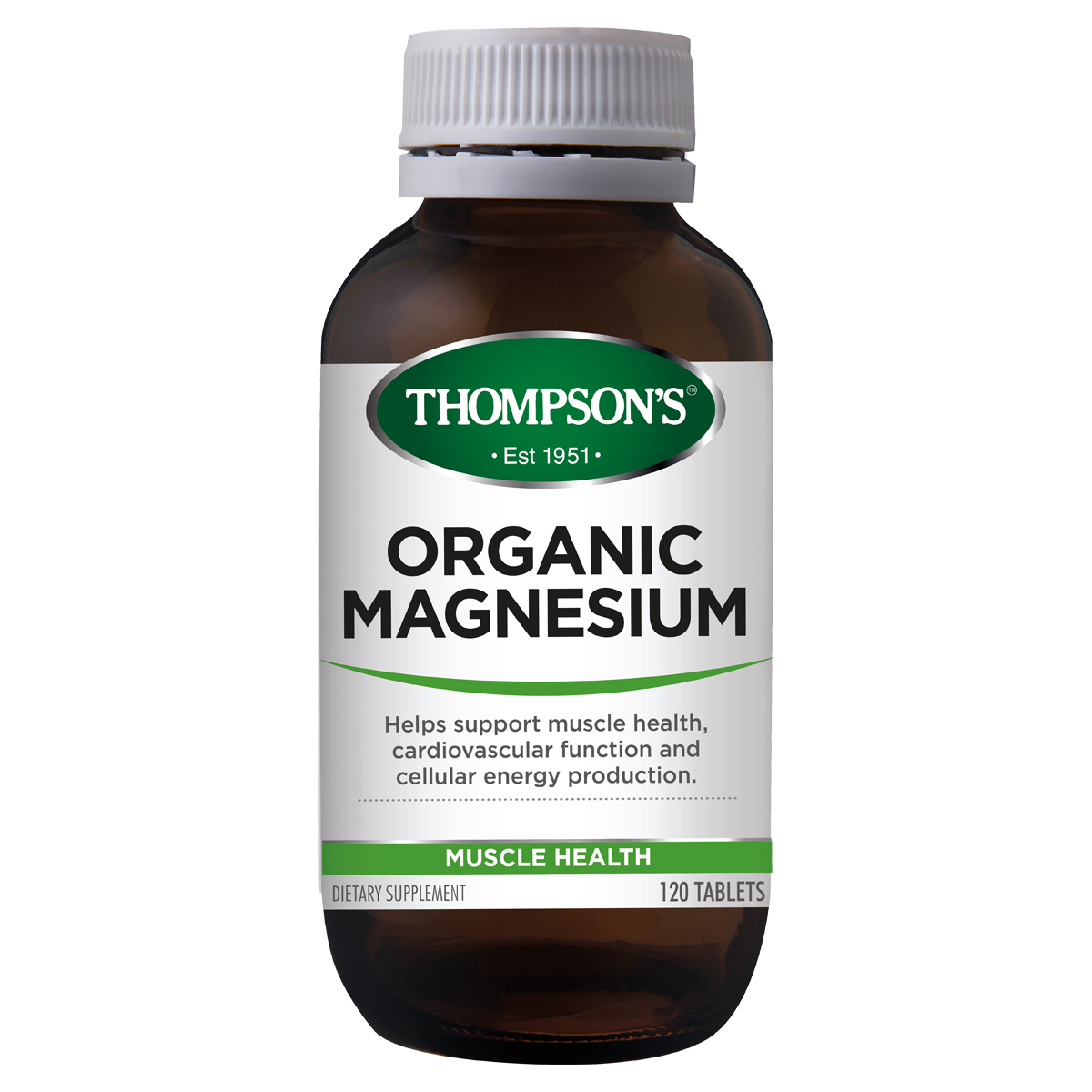 Thompsons Magnesium Organic 120 Tablets