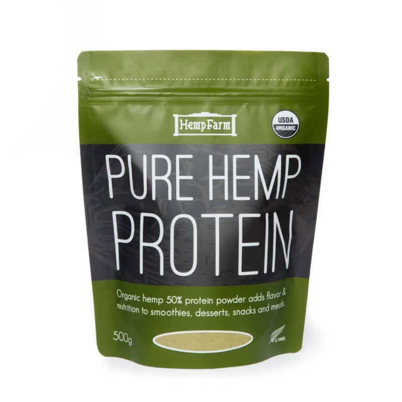 Hemp Farm Pure Hemp Protein Powder Organic 500gm