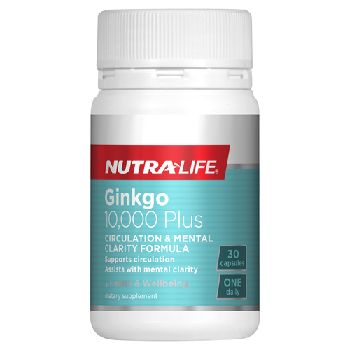 Nutra-Life Ginkgo 10,000 plus 30 Capsules