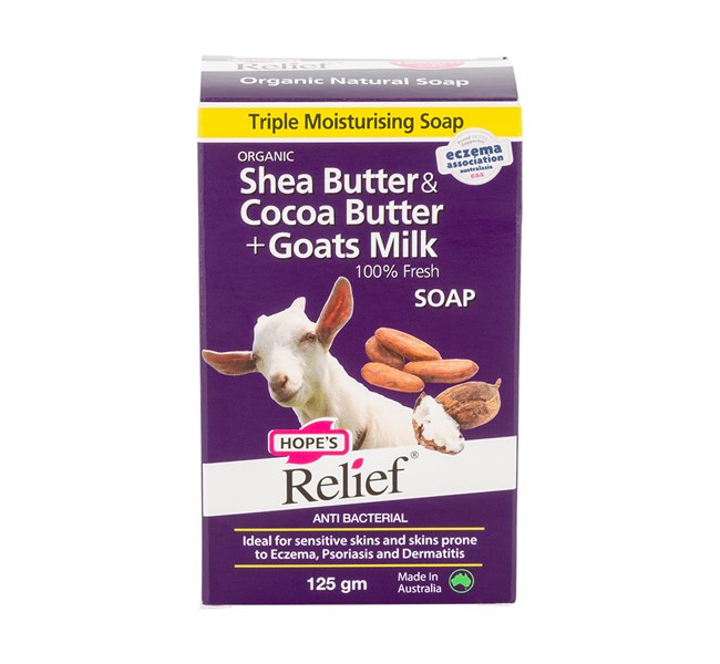 Hopes Relief Organic Shea & Cocoa Butter + 100% Fresh Goat Milks Soap