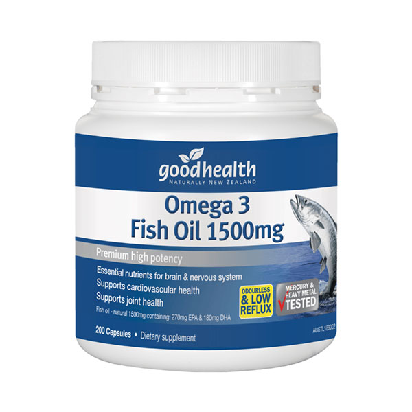 Good Health Omega 3 Fish Oil 1500 200 caps