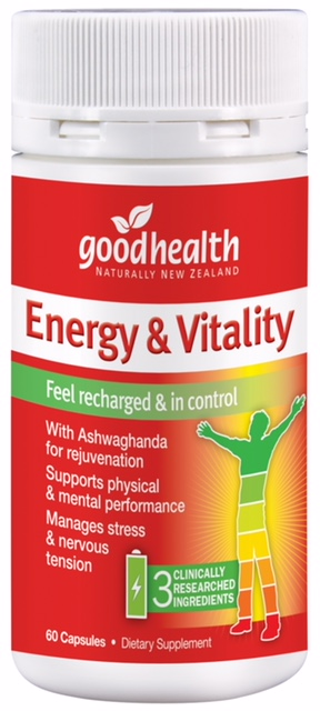 Good Health Energy & Vitality Support 60 Capsules