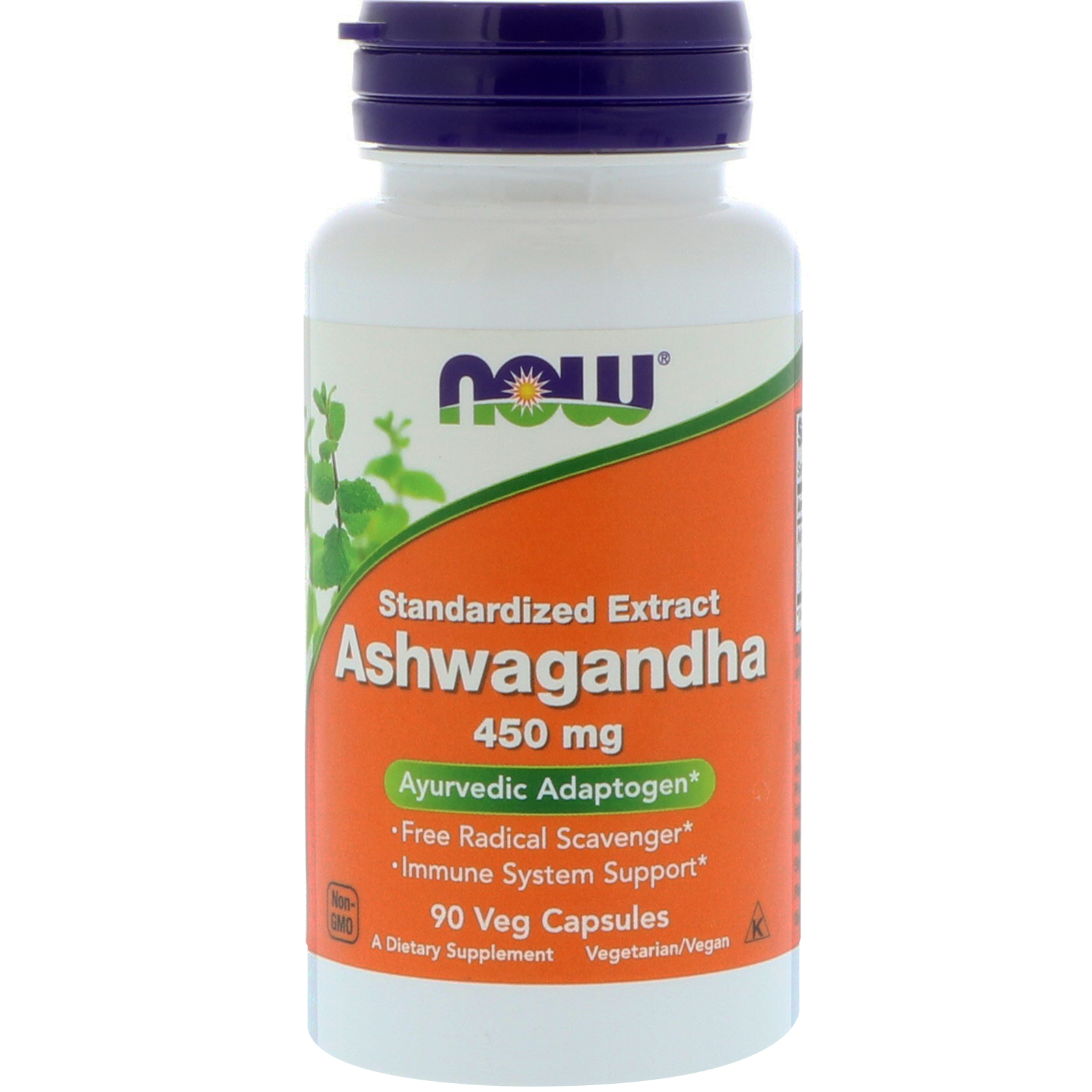 Now Ashwagangha 450mg 90 Vege Caps