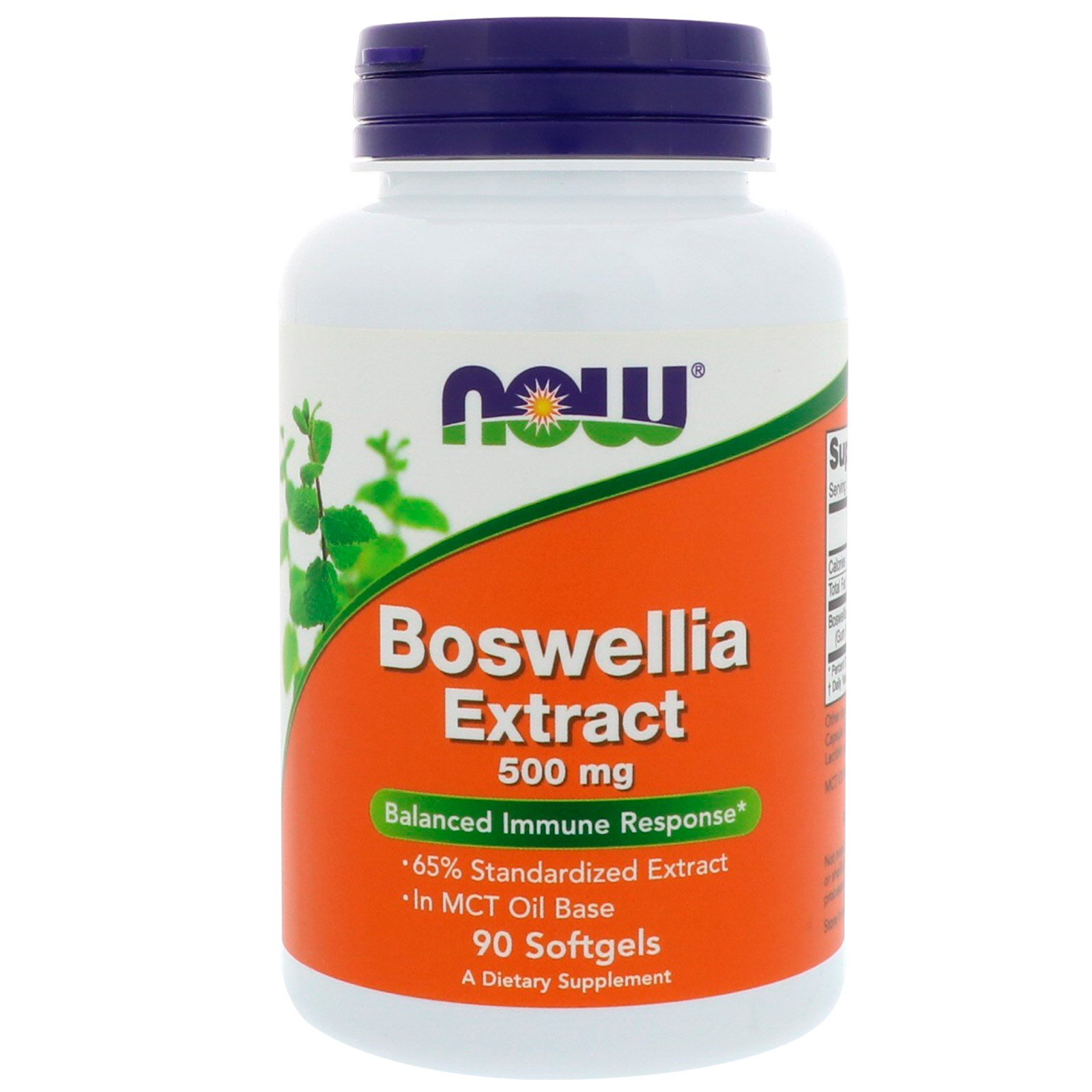 Now Boswellia Extract 500mg 90 Softgels