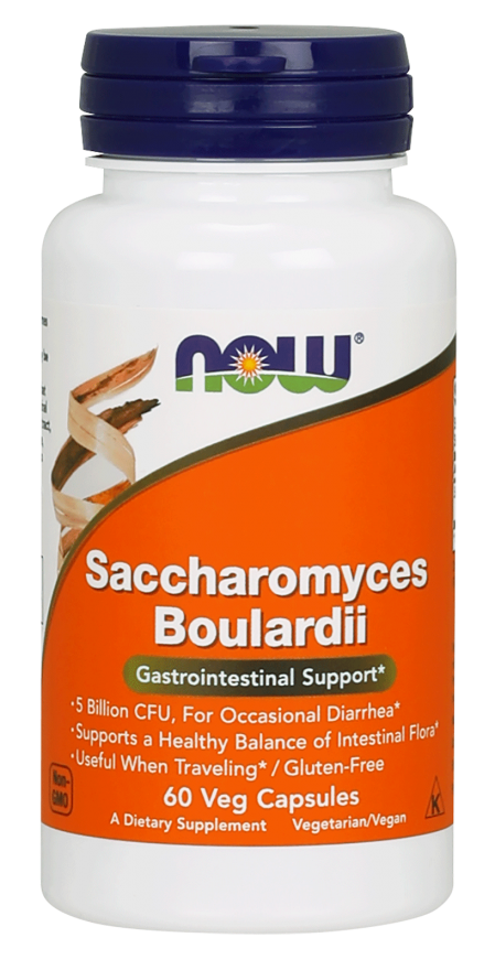 Now Saccharomyces Boulardii Probiotic 5 Billion CFU 60 VCaps