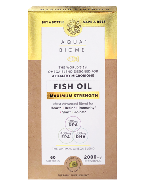Aqua Biome Fish Oil Max Strength 60 Soft Gels