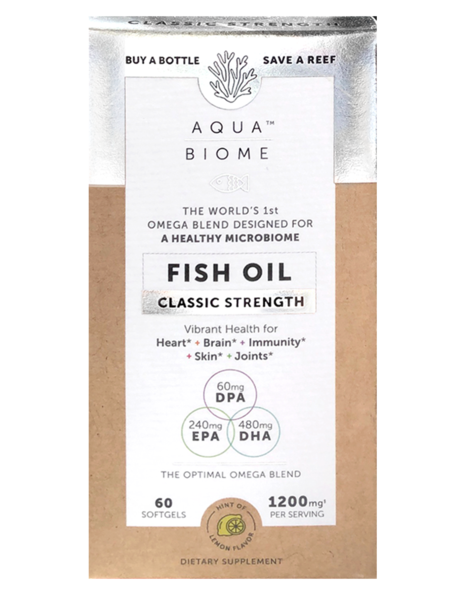 Aqua Biome Fish Oil Classic Strength 60 Soft Gels
