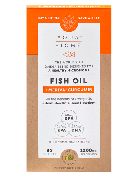 Aqua Biome Fish Oil Curcumin 60 Soft Gels