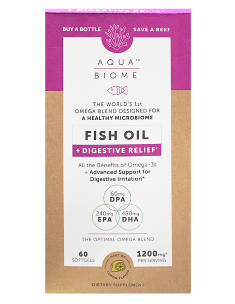 Aqua Biome Fish Oil Digestive Relief 60 Soft Gels