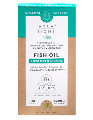Aqua Biome Fish Oil Sports Performance 60 Soft Gels
