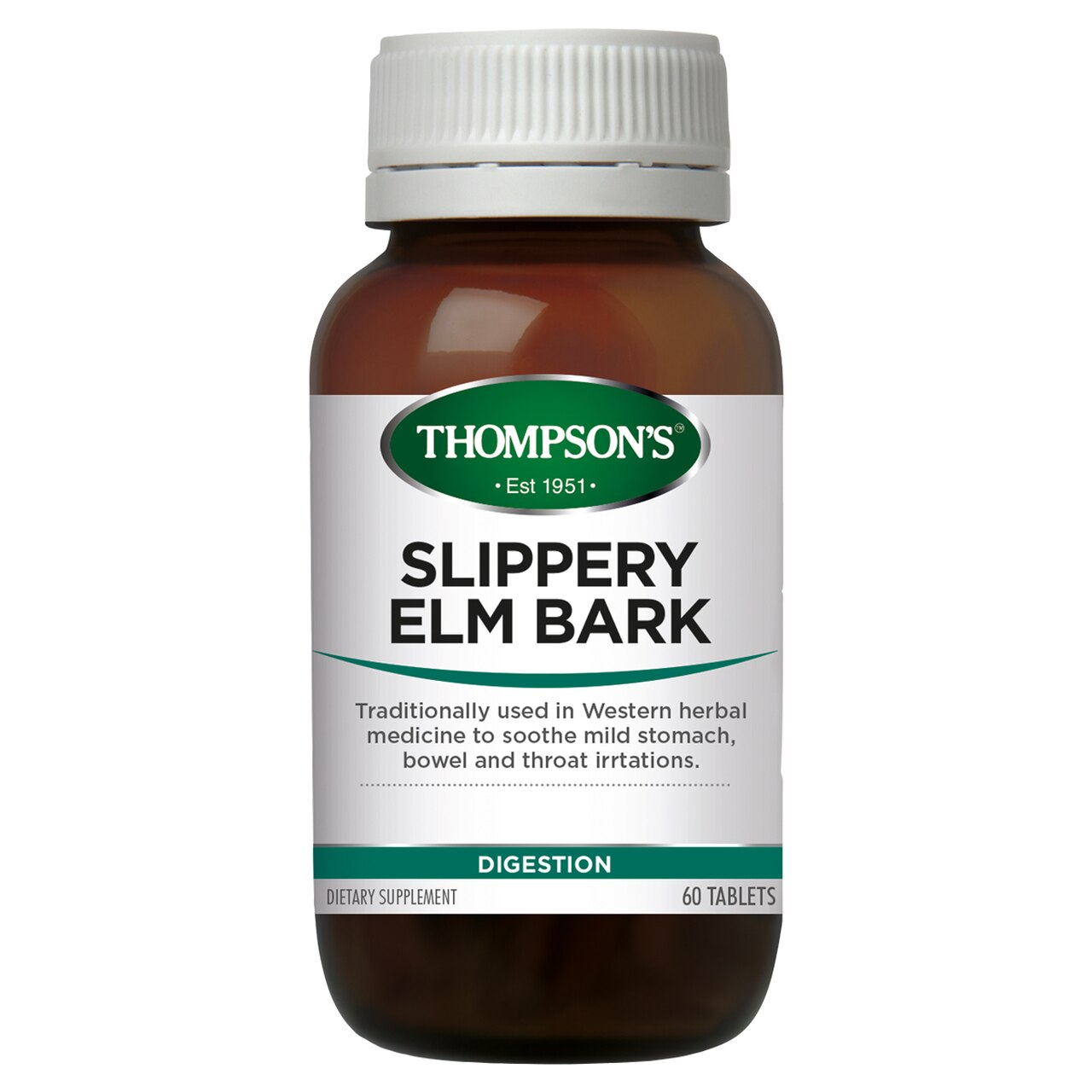 Thompsons Slippery Elm 60 Chewable Tablets