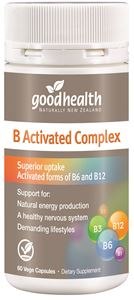Good Health Vitamin B Activated Complex 60 Capsules + FREE Good Health Brain Power 60 Capsules