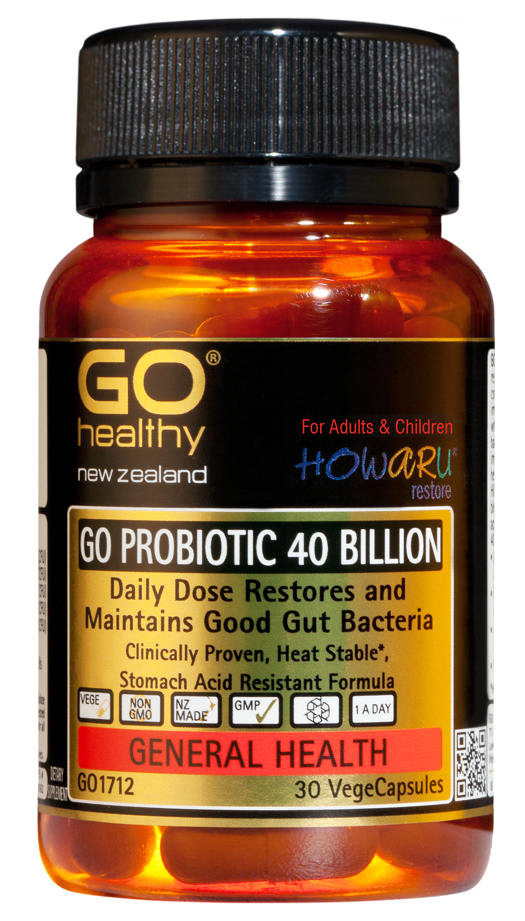 GO Healthy Probiotic 40 Billion 30 VegeCaps