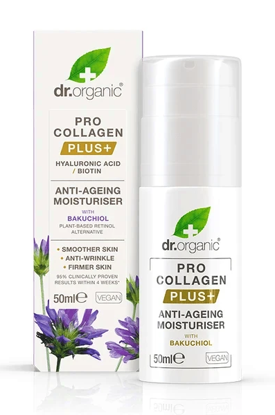 Dr Organic Pro Collagen Plus Anti Aging Moisturiser with Hyaluronic Acid and Biotin 50ml