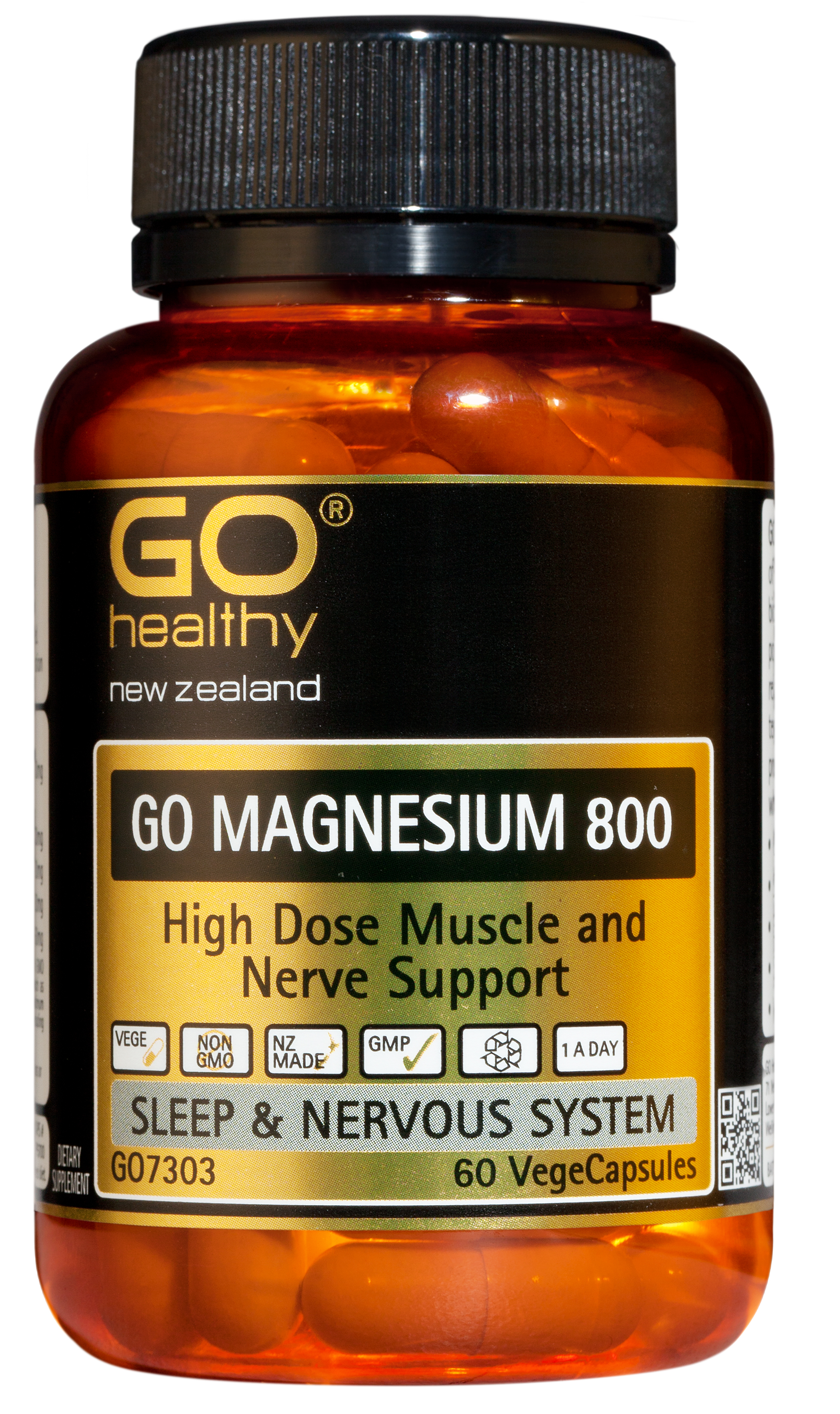 Go Healthy Magnesium 800 60 VegeCaps
