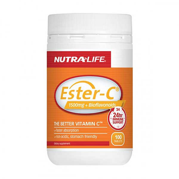 Nutra-life Ester C + Bioflavonoids 1500mg 100 Tablets