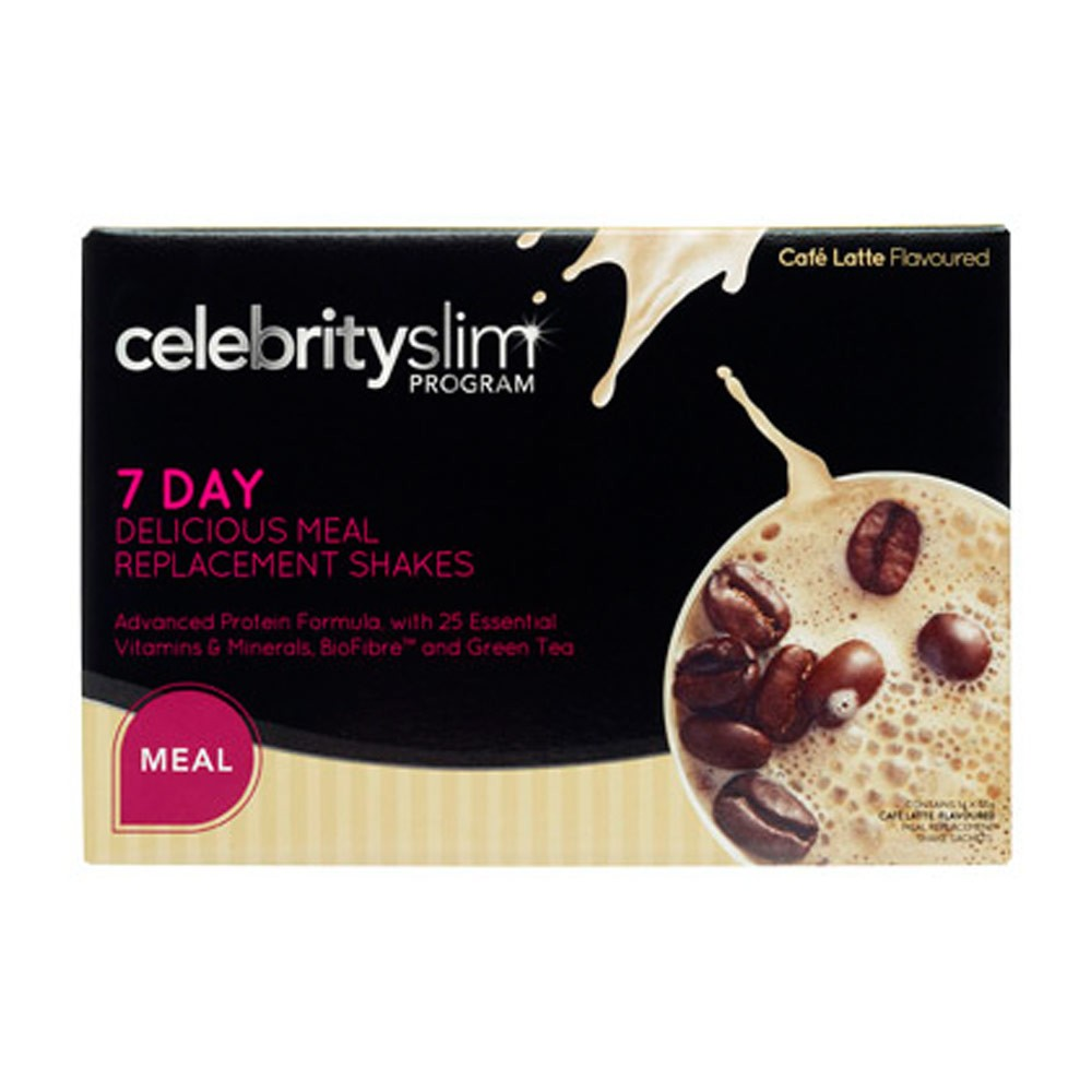 Celebrity Slim Meal Replacement Cafe Latte (7 Day)