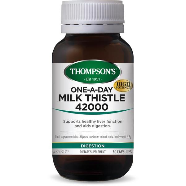 Thompsons Milk Thistle One A Day 42,000 60 Capsules