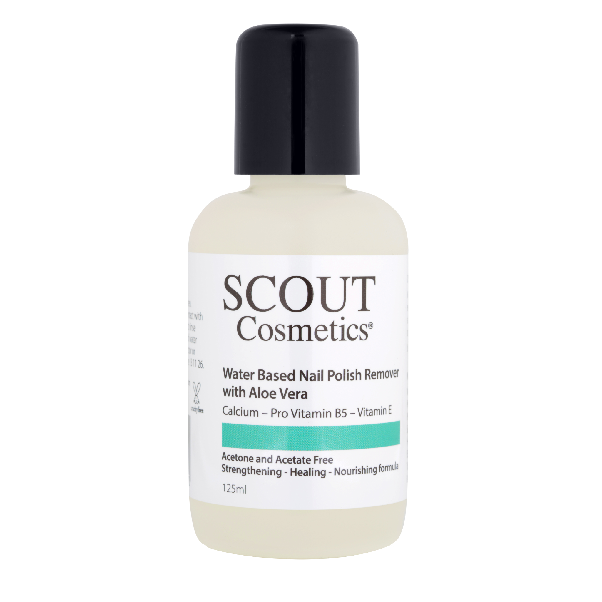 SCOUT Cosmetics Nail Polish Remover With Aloe