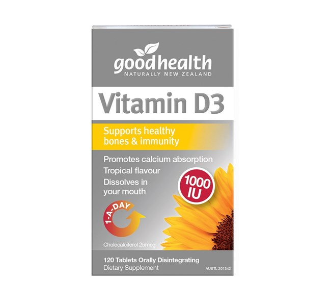 Good Health Vitamin D3 120 Chewables