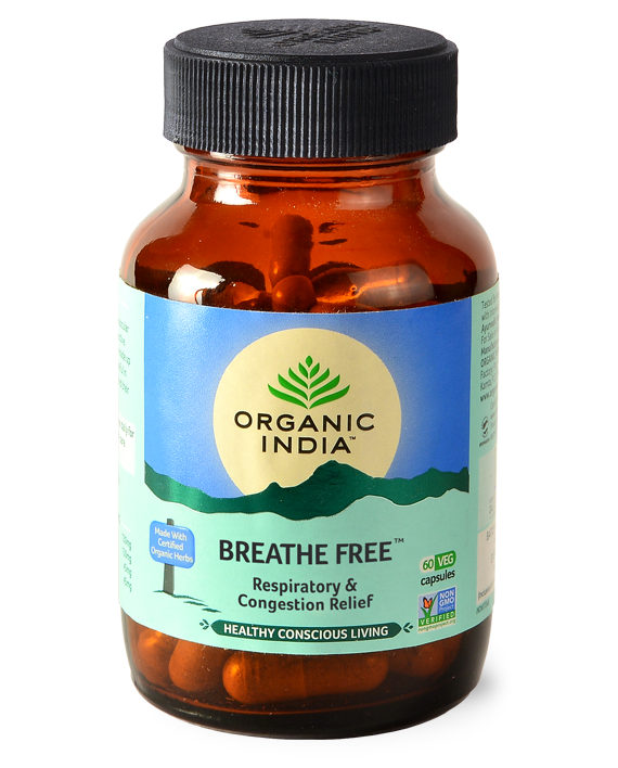Organic India Breathe Free Respiratory Support 90 Capsules